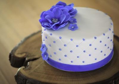 Lemon Blueberry Lavender Anniversary Cake